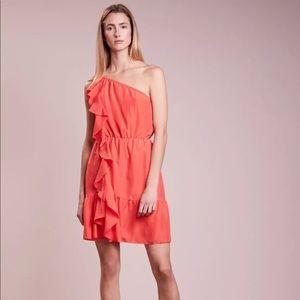 New club Monaco one shoulder silk dress